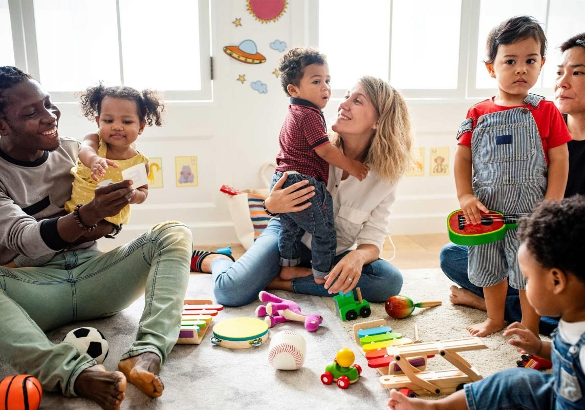 parents and toddlers enjoying a class